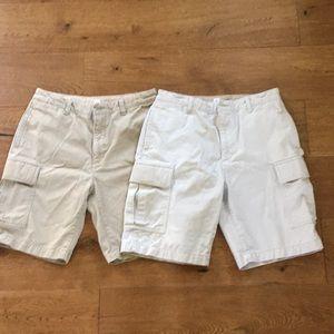 Gap Kids Boys Khaki Cargo Shorts 16 Husky